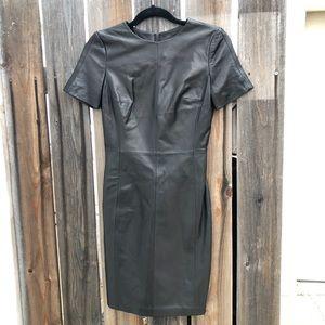 NWOT Antonio Melani leather dress knee length